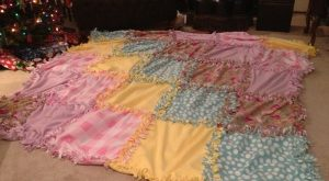 No-Sew Fleece Quilt – The Monstrosity of a Project