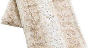 Pier 1 Imports Fuzzy Faux Fur Snow Leopard 80x96 Blanket