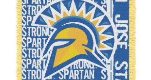 "San Jose State Spartans The Northwest Company College Double Play 46"" x 60"" Woven Blanket"