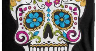 Sugar skull day of the dead flippin sweet gear blanket VPL Cozy Plush Fleece Blanket - 60x80 Black One Size