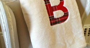That's My Letter: W is for Workshop fleece blanket with plaid monogram 2019...
