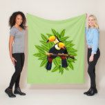Toucan Duo Green Fleece Blanket