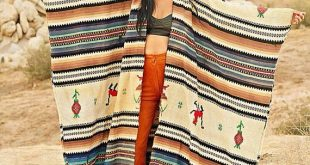Vintage 1940's 30's Serape Hand woven Blanket Coat Kimono OS