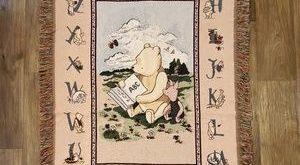 Vintage Disney Winnie the Pooh throw woven blanket 2019 Vintage Disney Winnie ...