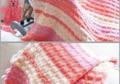 Webstuhl stricken Baby Decke Muster, gerade veröffentlicht!