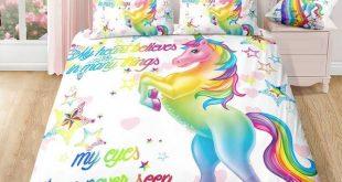 White Sparkling Star Unicorn Bedding Set (All Sizes Available)