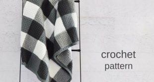 Wunderschönes Häkelmuster mit karierter Decke! Ich liebe diese Häkeldecke - eine perfekte ...